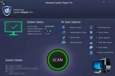 Advanced System Repair Pro 1.9.2.1 Crack + Serial Key (Lifetime)