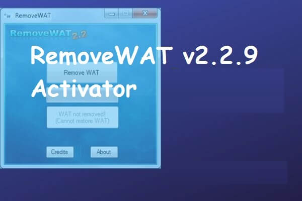 Removewat 3 Activator V2.2.9 All Windows [7, 8, 8.1 & 10]