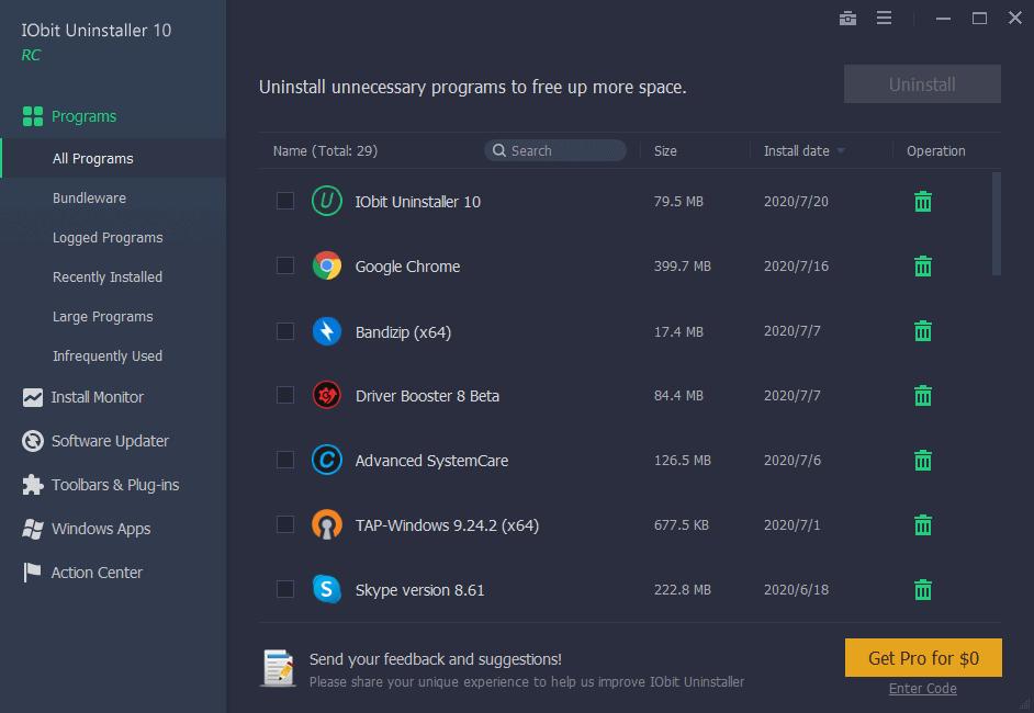 IObit Uninstaller Pro 10.4.0.13