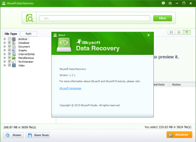iSkysoft Data Recovery 5.3.1 Key + Crack Free Download 2020