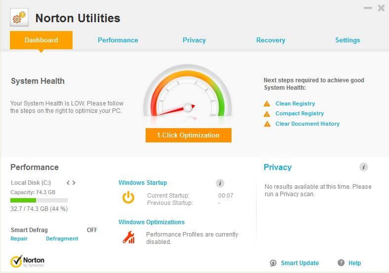 Symantec Norton Utilities